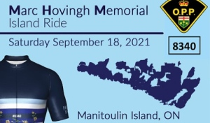 Almost 10 months to the day that Const. Marc was killed, family, friends and even strangers will cycle both on Manitoulin Island and virtually Saturday. (Supplied)