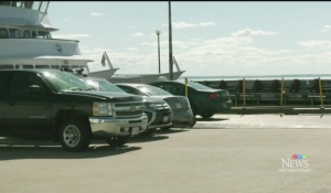The King's Landing wharf is again open to vehicles after being closed in March due to damage caused by ice in the spring. (Photo from video)