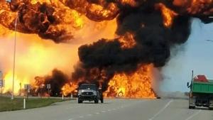 Tanker truck explodes west of Edmonton