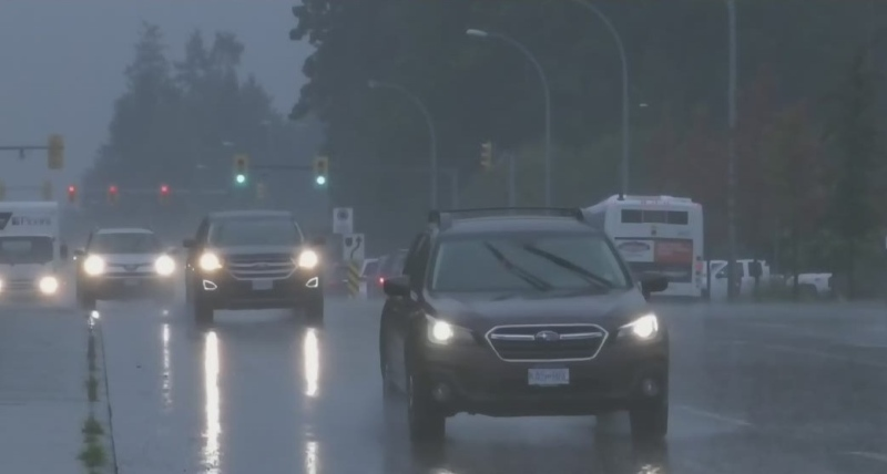 Heavy rainfall comes to parts of Vancouver Island