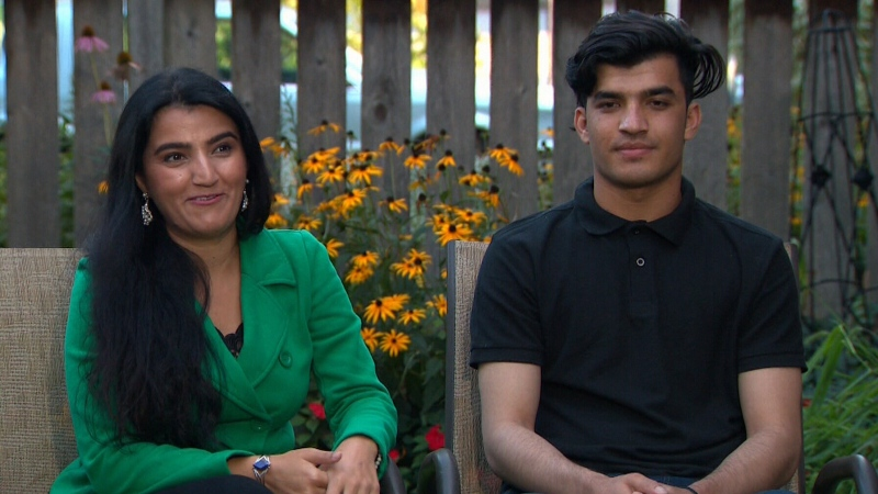 Maryam Sahar's family was among those who were able to flee to Canada in August. The family recently held a backyard party to celebrate finally being reunited.