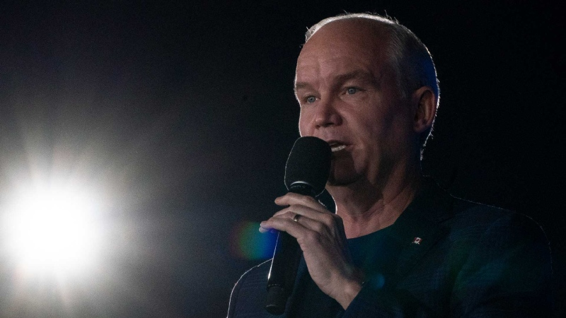Conservative Leader Erin O'Toole speaks during a campaign rally Friday, September 17, 2021 in St. Catherines, Ont. THE CANADIAN PRESS/Adrian Wyld