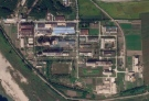 In this Saturday, Sept. 18, 2021 satellite photo from Planet Labs Inc., a uranium enrichment plant is seen at North Korea's main Yongbyon nuclear complex. (Planet Labs Inc. via AP)
