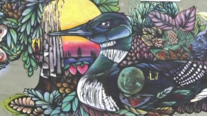 Graffiti artist Mique Michelle said she wants her work to help marginalized people share their opinions, knowledge and stories. Sept.17/21 (Sergio Arangio/CTV News Northern Ontario)