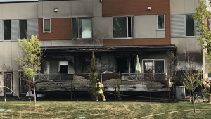 At least two units in the building were damaged in the fire that broke out early Saturday morning.