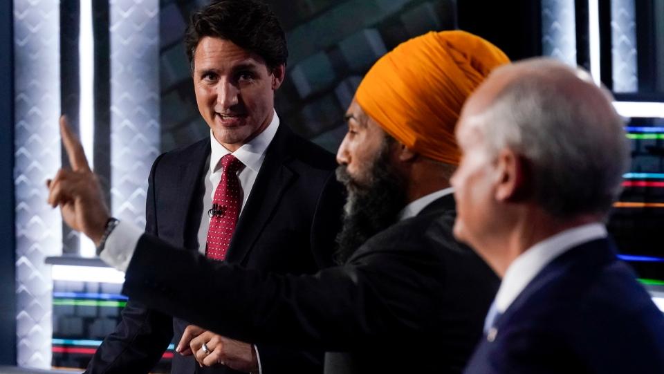Trudeau, Singh and O'Toole