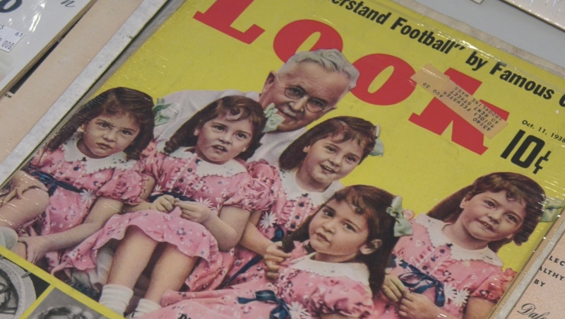 The five sisters Annette, Yvonne, Cécile, Marie and Émilie were born May 28, 1934 in a humble farmhouse. Their mother, Elzire, suspected she was carrying twins, but no one was aware that giving birth quintuplets was even possible. Sept. 18/21 (Eric Taschner/CTV News Northern Ontario)