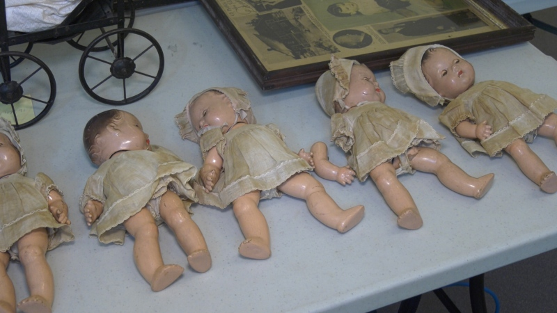 The collection consists of antique dishes, spoons, calendars, photographs, books, toys, advertisements, and an extremely rare and valuable five set Madame Alexander doll collection. Sept. 18/21 (Eric Taschner/CTV News Northern Ontario)