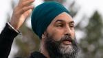 NDP Leader Jagmeet Singh delivers his morning announcement in Saskatoon, Sask., Saturday, Sept. 18, 2021. (THE CANADIAN PRESS / Jonathan Hayward)