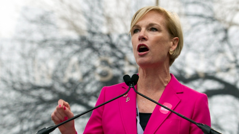 In this Jan. 21, 2017, file photo, then-President of the Planned Parenthood Federation of America Cecile Richards speak to the crowd during the women's march rally in Washington. (AP Photo/Jose Luis Magana, File)