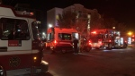 Fire crews were called to an incident in an apartment building early Saturday, one of several fires that occurred in the early morning hours.