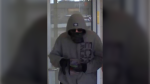 LaSalle Police released this photo of a suspect believed to be involved in a robbery at a CIBC in LaSalle, Ont. on Saturday, Sept. 18, 2021. (courtesy LaSalle police)