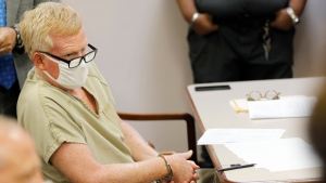 Alex Murdaugh sits during his bond hearing Thursday, Sept. 16, 2021, in Varnville, S.C. (AP Photo/Mic Smith)
