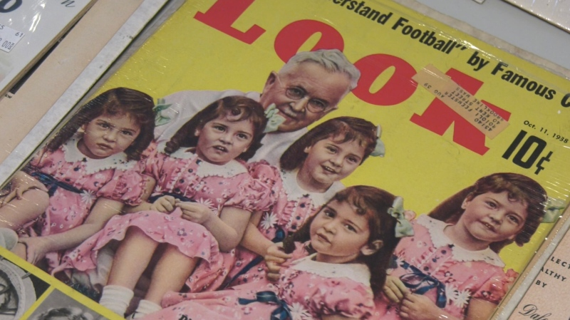 An American man and his wife donated a large collection of Dionne Quintuplets memorabilia to the Callander Bay Heritage Museum after his mother, who owned it, passed away.