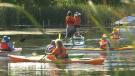 The Orange Out Paddle along the Creek of Kemptville. (Jackie Perez/CTV News Ottawa)