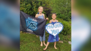 Sisters Lexi and Ryleigh have raised nearly $13,000 for SickKids hospital in Toronto through various fundraisers. (Courtesy Cassandra Durham)