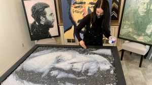 Melanie Harrison uses art to fight heart disease