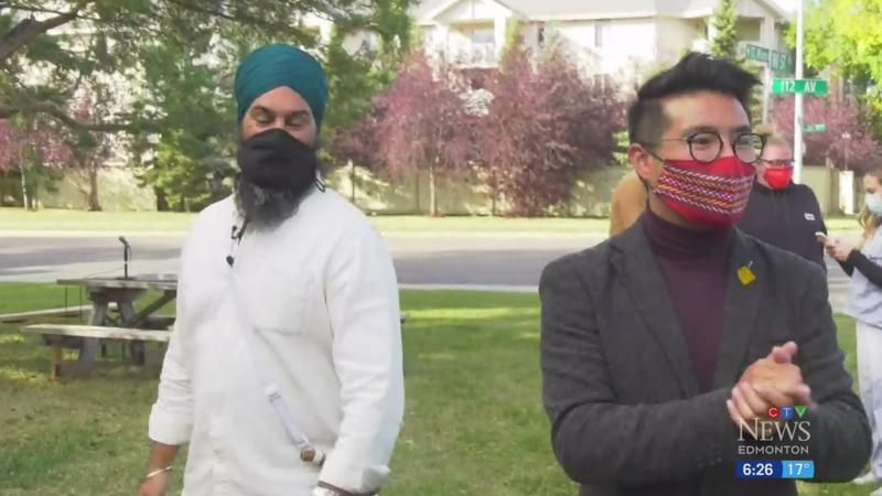 Jagmeet Singh campaigns in Edmonton again