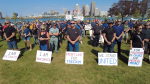 Silent protest in downtown Windsor on Saturday September 18, 2021 (Bob Bellacicco / CTV News)