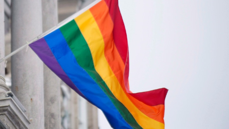 A pride flag is seen in this undated file photo.