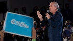 Conservative Leader Erin O'Toole speaks to supporters during a campaign rally Saturday, September 18, 2021 in Kitchener, Ont.THE CANADIAN PRESS/Adrian Wyld