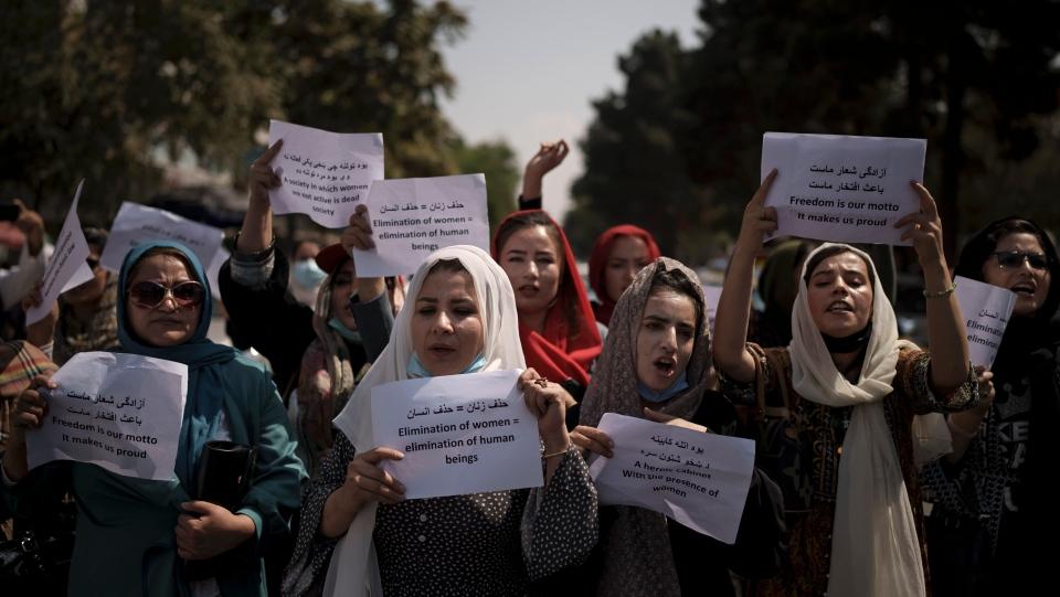 Demonstration in Kabul, Afghanistan