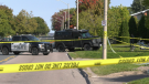 The province's Special Investigations Unit (SIU) say an officer with the Sault Ste. Marie police service was shot after being called to a domestic situation. Officials have also confirmed four investigators and two forensic investigators have been assigned to the case. Sept. 19/21 (Mike McDonald/CTV News Northern Ontario)