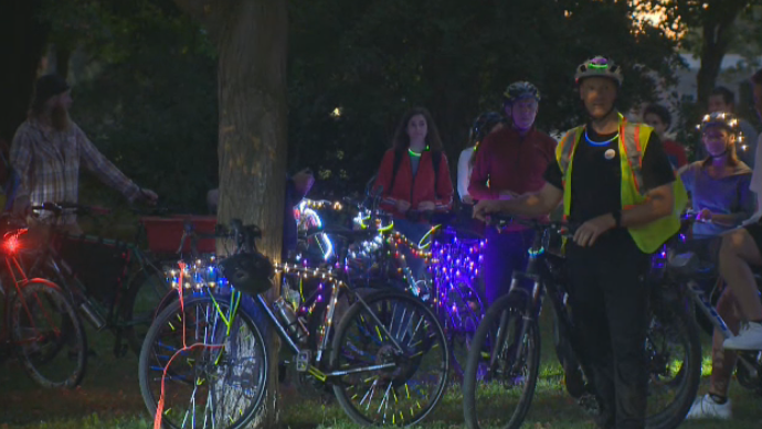 Guelph cyclists promoting safer streets