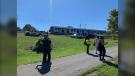 An LRT train derailed west of Tremblay Station on Sunday, Sept. 19. (Jackie Perez/CTV News Ottawa)