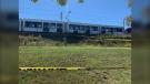 OC Transpo is investigating after an LRT car derailed near Tremblay Station. (Jackie Perez/CTV News Ottawa)