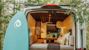 Forced to stay north of the border instead of hitting up California's Big Sur, a group of Concordia University students developed a van that has a waiting list for orders. SOURCE: Nav Camper.