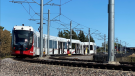Ottawa's two-year-old Confederation Line was shut down on Sunday after an LRT car derailed between Tremblay and Hurdman Stations. (Viewer submission photo)
