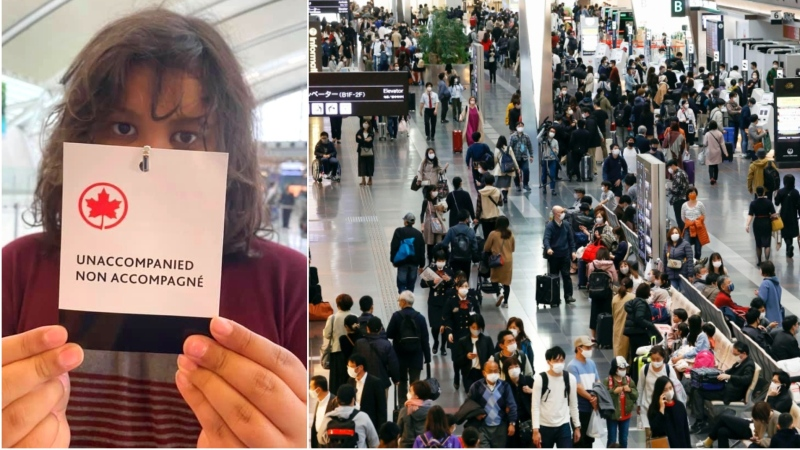 An Ontario woman says Air Canada allowed her 11-year-old son to board an international flight without supervision and fly home from Mexico City alone.