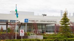 Fort St. John Hospital is shown (Facebook/Northern Health)