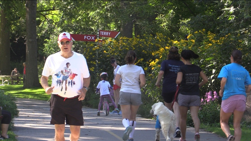 Tom Massel, 74, of London, Ont. is one of the 'EveryTimers' who have done all 41 Terry Fox Runs in London, Ont. on Sunday, Sept. 19, 2021. (Brent Lale/CTV London)