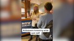 """Social media video appears to show a woman arguing with staff and other customers at a B.C. restaurant about the province's proof of vaccination requirements, describing the enforcement as """"tyranny."""" (TikTok/@ihenderson92)"""