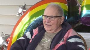 Jim Lawton at his celebration of life.