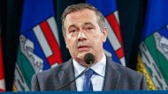 Alberta Premier Jason Kenney announces new COVID-19 measures for Alberta in Calgary, Wednesday, Sept. 15, 2021.THE CANADIAN PRESS/Jeff McIntosh