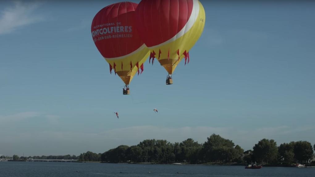Quebec hot air balloon record