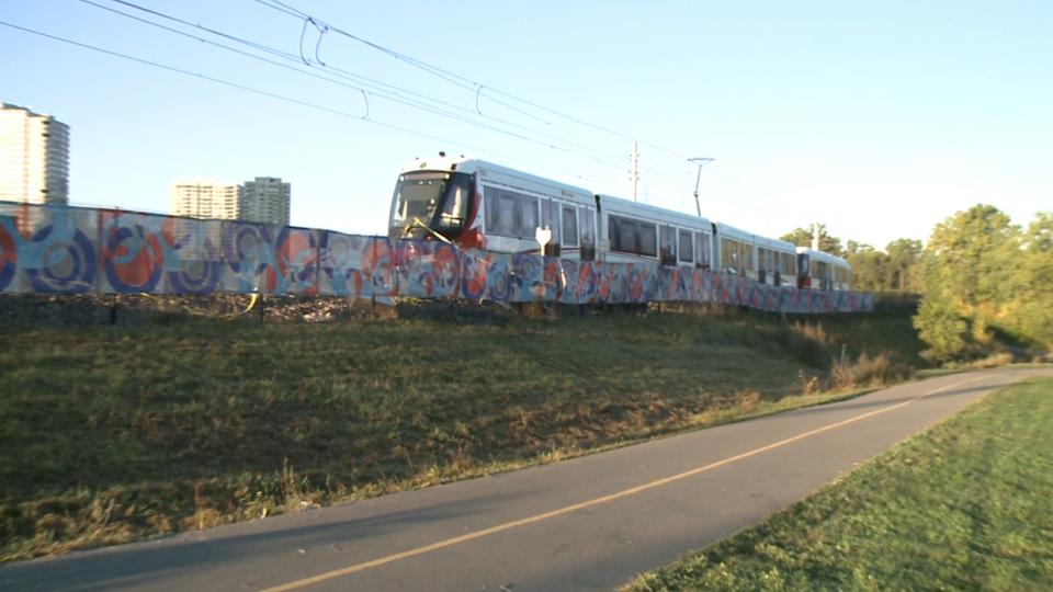 Derailed LRT train Sept 20