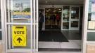 Polling station at the WFCU Centre in Windsor, Ont., on Monday, Sept. 20, 2021. (Angelo Aversa / CTV Windsor)