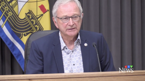 """""""The past few weeks have been difficult for all New Brunswickers as we have seen our case numbers and hospitalizations rise quickly,"""" said N.B. Premier Blaine Higgs during Monday's news update."""