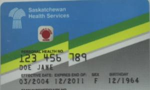saskatchewan health care card