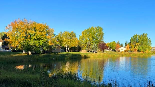 Spectacular day for a walk in The Pas. Photo by Jim Scott.