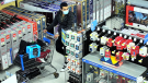 """Stratford police are searching for a suspect in connection with a """"high-end"""" theft attempt at the Ontario Street Walmart. (Supplied by Stratford police)"""