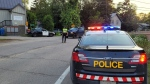 Police attend the scene of a single-vehicle collision in Caledon, Ont., on Sept. 9, 2021. (OPP_CR)