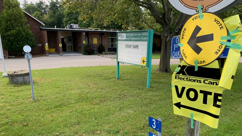 The Oakland Community Centre in Brant County on election day Sept. 20, 2021.