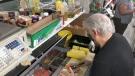 Paolo Di Rienzo making one of his famous Italian sandwiches. (Dave Charbonneau/CTV News Ottawa)