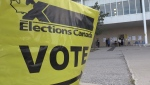 Voters head to the election polls in Bradford, Ont. on Monday, September 20 (Siobhan Morris/CTV News)
