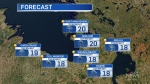 Five-day forecast for CTV Barrie: Sept. 20